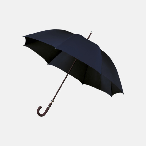 Marinblå (PMS 296C)  Stormsäkra Paraplyer med tryck