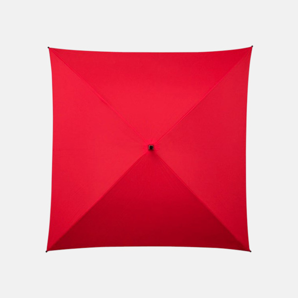 Röd (PMS 186C) Fyrkantiga Paraplyer med eget tryck