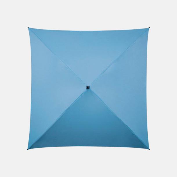 Ljusblå (PMS  279C) Fyrkantiga Paraplyer med eget tryck