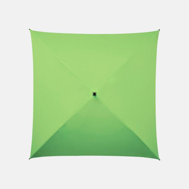 Grön (PMS 374C) Fyrkantiga Paraplyer med eget tryck