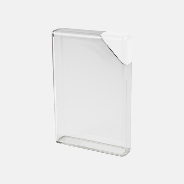 Vit / Transparent Platta vattenflaskor med reklamtryck