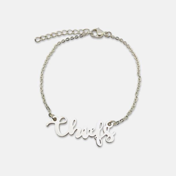 Silver Guld- och silver pläterade armband med eget namn