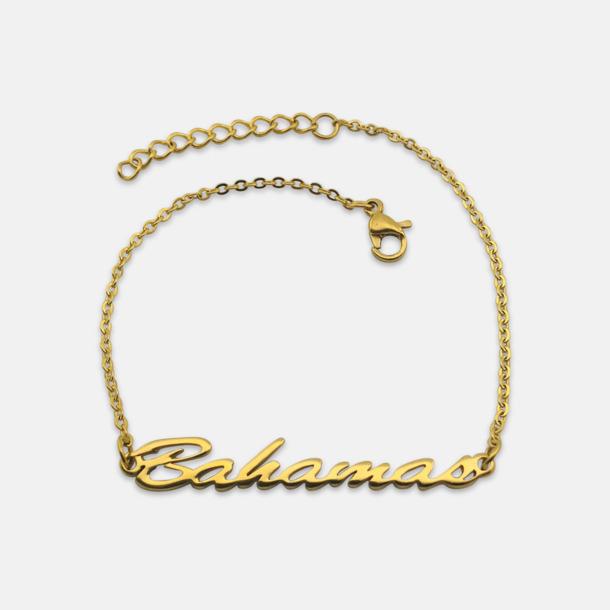 Guld Guld- och silver pläterade armband med eget namn