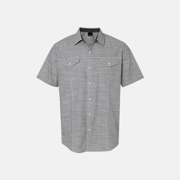 """Svart/White Heather (herr) """"Vävda"""" skjortor med reklamlogo"""