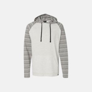 Delvis randiga hoodies med reklamtryck