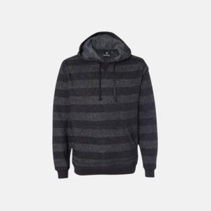 Randiga hoodies med reklamtryck