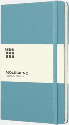 Turkos (large) Moleskine-böcker med blanka sidor och hårt omslag - med reklamtryck