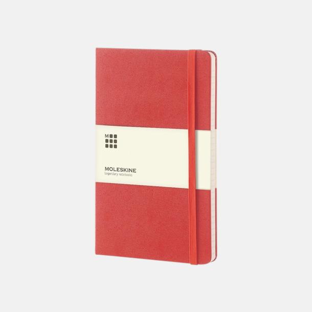 Röd (large) Moleskine-böcker med blanka sidor och hårt omslag - med reklamtryck
