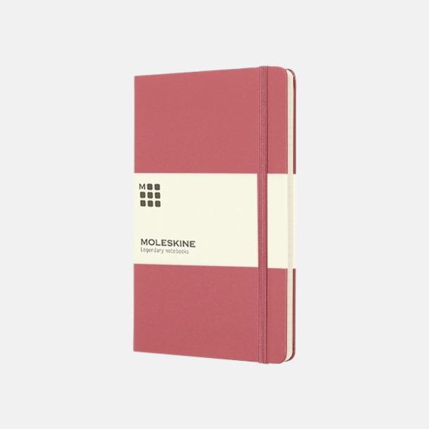 Rosa (large) Moleskine-böcker med blanka sidor och hårt omslag - med reklamtryck