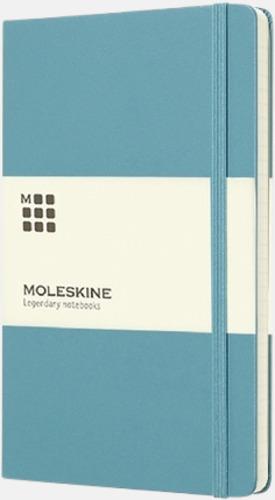Turkos (ruled) Moleskines stora anteckningsböcker (ca A5) med linjerade eller rutade sidor - med reklamtryck