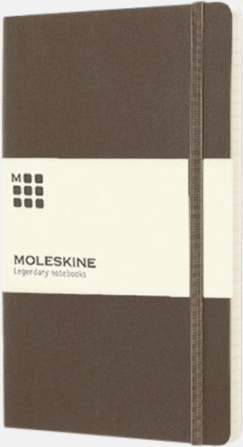 Brun (ruled) Moleskine mjuka notisböcker i 3 utföranden med reklamtryck