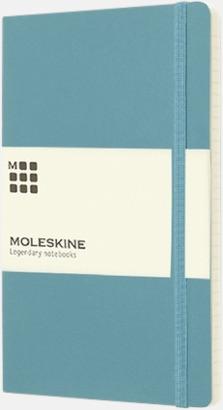 Turkos (ruled) Moleskine mjuka notisböcker i 3 utföranden med reklamtryck