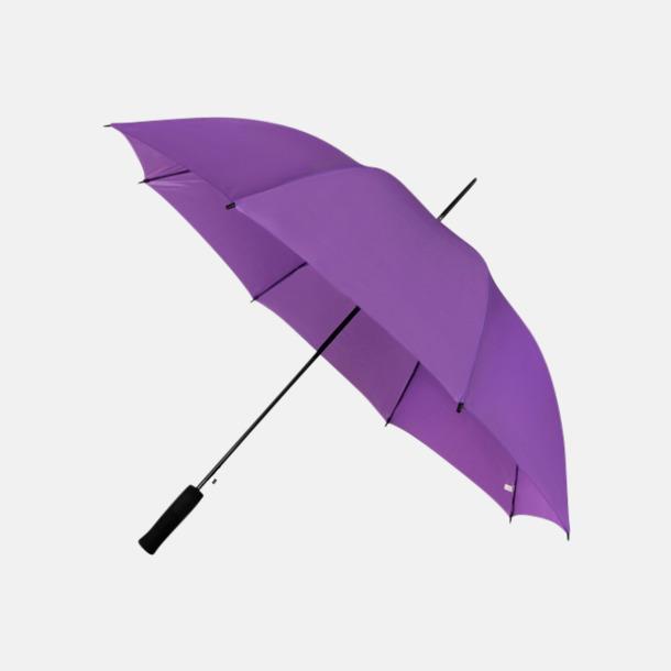 Lila (PMS 814C) Paraplyer med reklamtryck