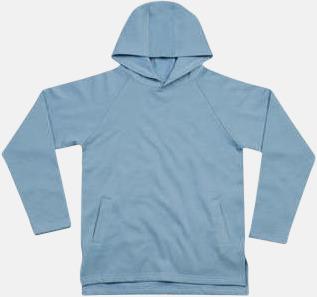 Light Denim Eko unisex hoodies med reklamtryck