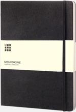 Moleskine extra stora, hårda notisböcker i 3 utföranden med reklamtryck