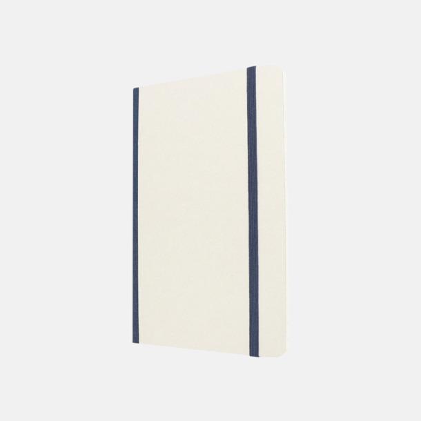 Vit / Blå Vita anteckningsböcker från Moleskine med reklamtryck