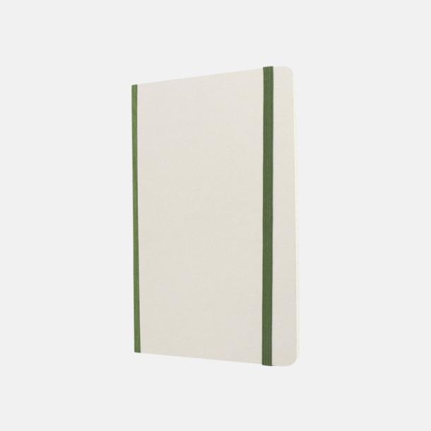 Vit / Grön Vita anteckningsböcker från Moleskine med reklamtryck
