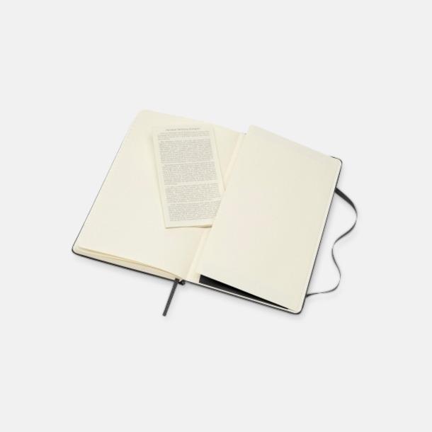 A5-lädernateckningsböcker från Moleskine med reklamlogo