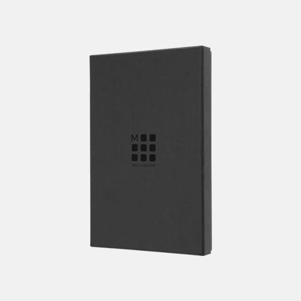 Giftbox A5-lädernateckningsböcker från Moleskine med reklamlogo