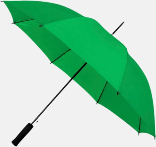 Grön (PMS 348C) Paraplyer med reklamtryck