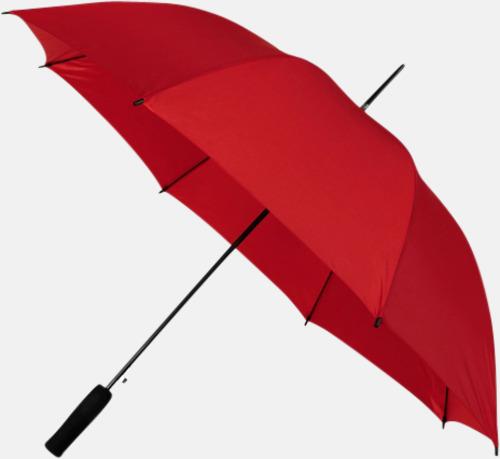 Röd (PMS 199C) Paraplyer med reklamtryck
