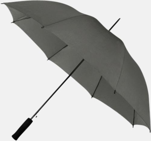 Mörkgrå (PMS COOL GRAY 9C) Paraplyer med reklamtryck