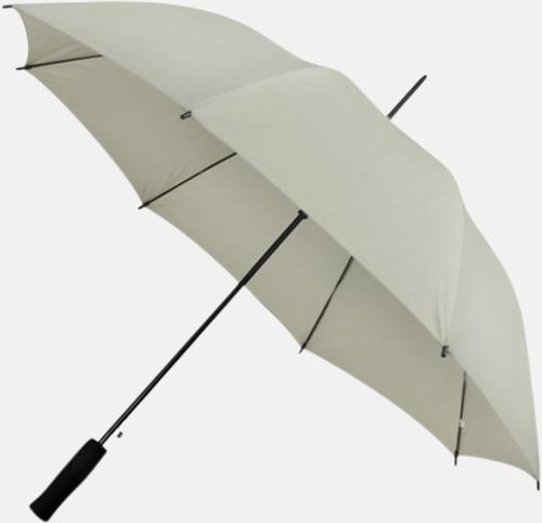 Ljusgrå (PMS COOL GRAY 5C) Paraplyer med reklamtryck
