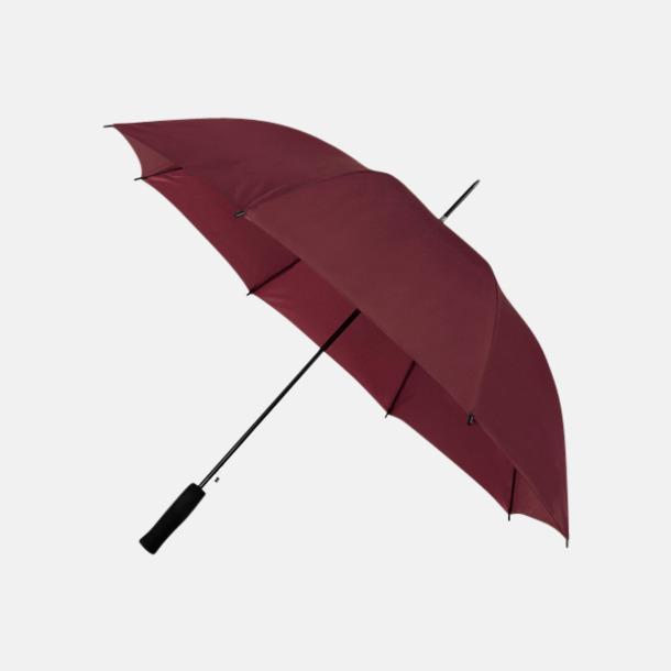 Burgundy (PMS 504C) Paraplyer med reklamtryck