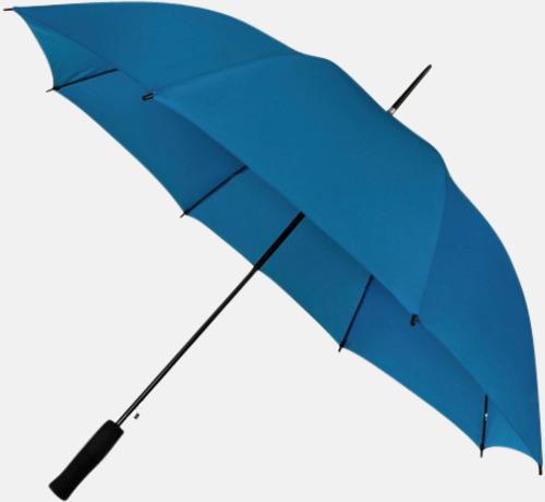Blå (PMS 293C) Paraplyer med reklamtryck