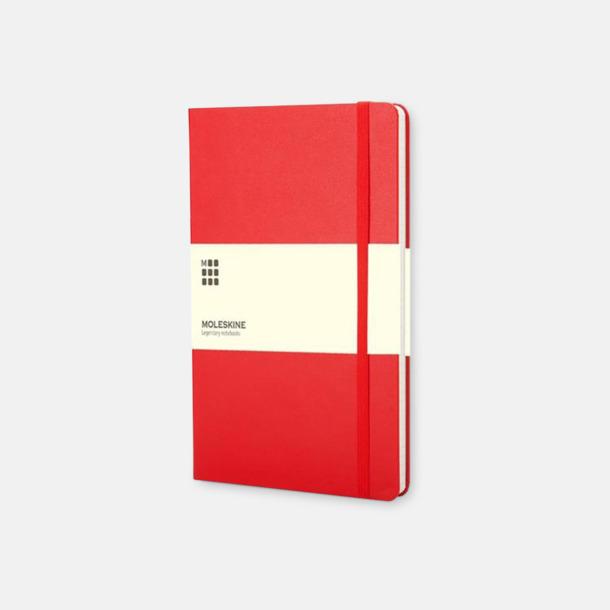 Röd (large, hardcover) Dagskalendrar 2019 frå Moleskine med reklamtryck