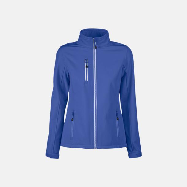 Blå (dam) 3-lagers softshell jackor med reklamtryck