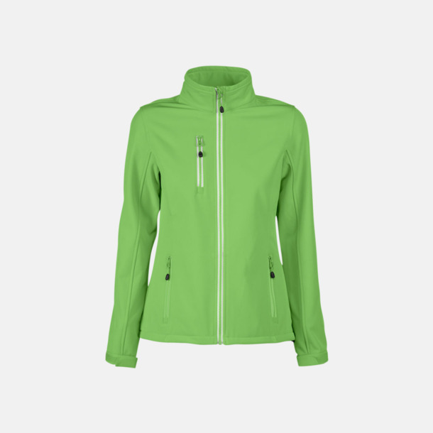 Lime (dam) 3-lagers softshell jackor med reklamtryck
