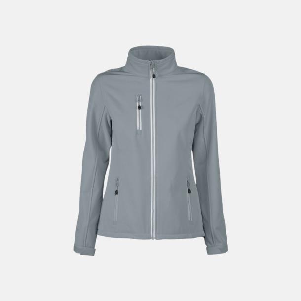 Metal Grey (dam) 3-lagers softshell jackor med reklamtryck