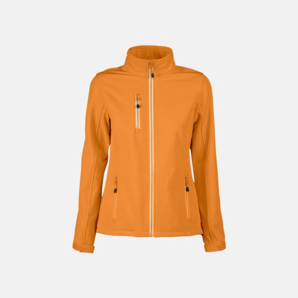 Orange (dam) 3-lagers softshell jackor med reklamtryck