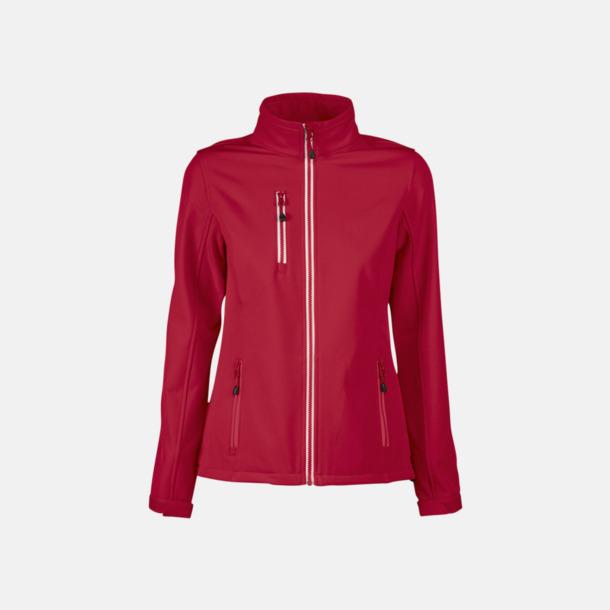 Röd (dam) 3-lagers softshell jackor med reklamtryck