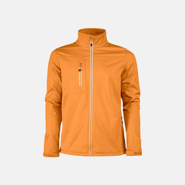 Orange (herr) 3-lagers softshell jackor med reklamtryck