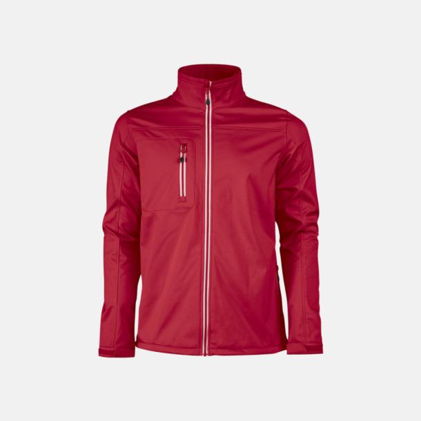 Röd (herr) 3-lagers softshell jackor med reklamtryck