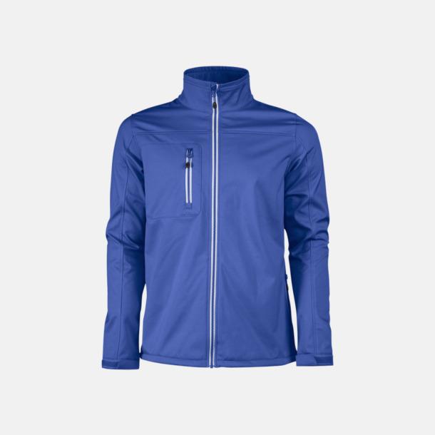 Blå (herr) 3-lagers softshell jackor med reklamtryck