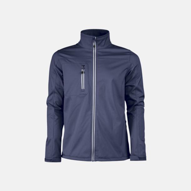 Marinblå (herr) 3-lagers softshell jackor med reklamtryck