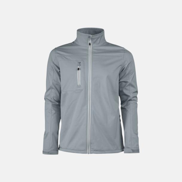 Metal Grey (herr) 3-lagers softshell jackor med reklamtryck