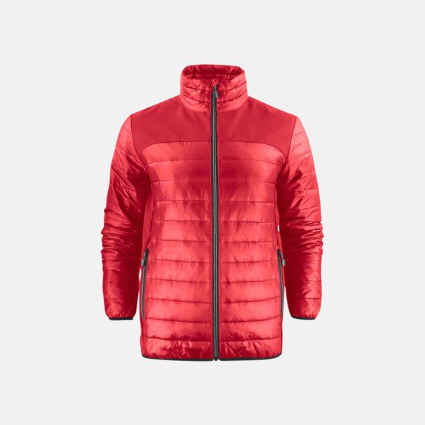 Röd (herr) Lättvikts softshell jackor med reklamlogo