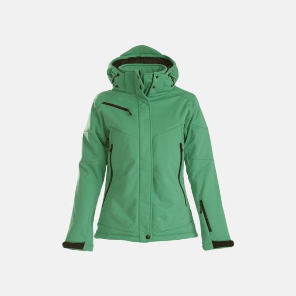 Fresh Green (dam) Vadderade jackor med löstagbar huva - med reklamtryck