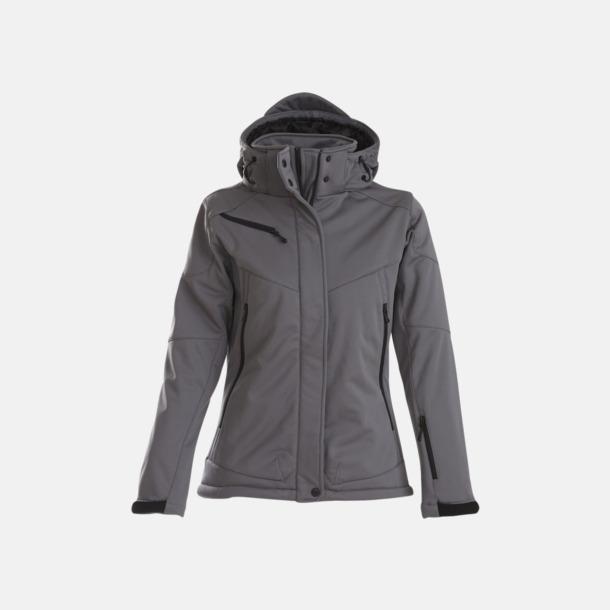 Steel Grey (dam) Vadderade jackor med löstagbar huva - med reklamtryck