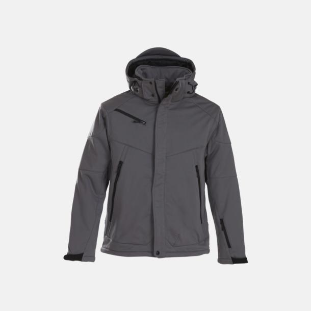 Steel Grey (herr) Vadderade jackor med löstagbar huva - med reklamtryck