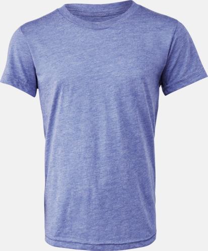 Blue Triblend heather (ungdom) T-shirts för vuxna & barn - med reklamtryck