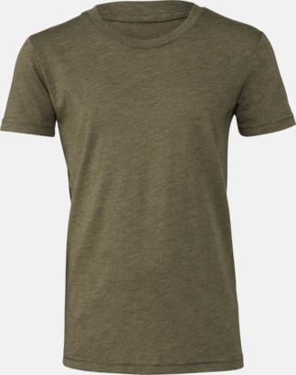 Olive Triblend heather (ungdom) T-shirts för vuxna & barn - med reklamtryck