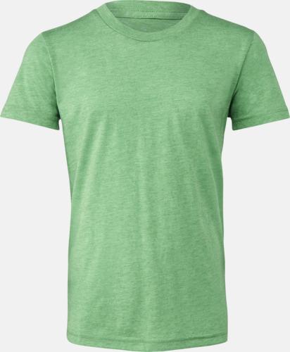 Green Triblend heather (ungdom) T-shirts för vuxna & barn - med reklamtryck