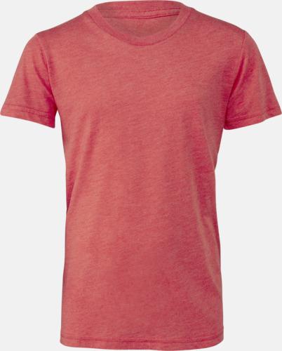 Red Triblend heather (ungdom) T-shirts för vuxna & barn - med reklamtryck