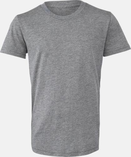 Grey Triblend heather (ungdom) T-shirts för vuxna & barn - med reklamtryck