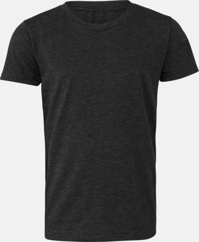 Charcoal-Black Triblend heather (ungdom) T-shirts för vuxna & barn - med reklamtryck
